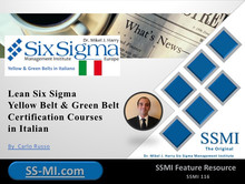 Lean Six Sigma Yellow Belt & Green Belt Certification Courses in Italian