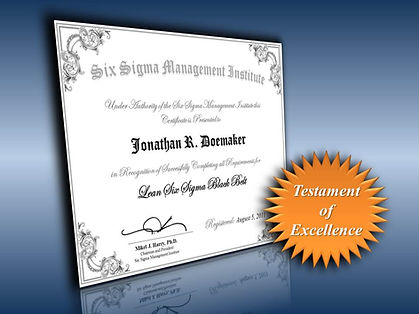 The most recognised accredited lean six sigma black belt