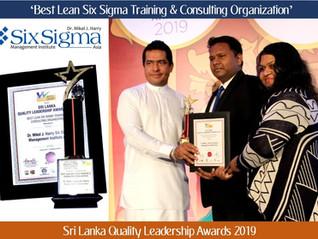 SSMI Asia wins 'Best Lean Six Sigma Training & Consulting Organization Award' at Sri Lan