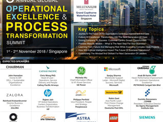 SSMI Asia is featured at the 3rd Annual Global Operational Excellence & Process Transformation S