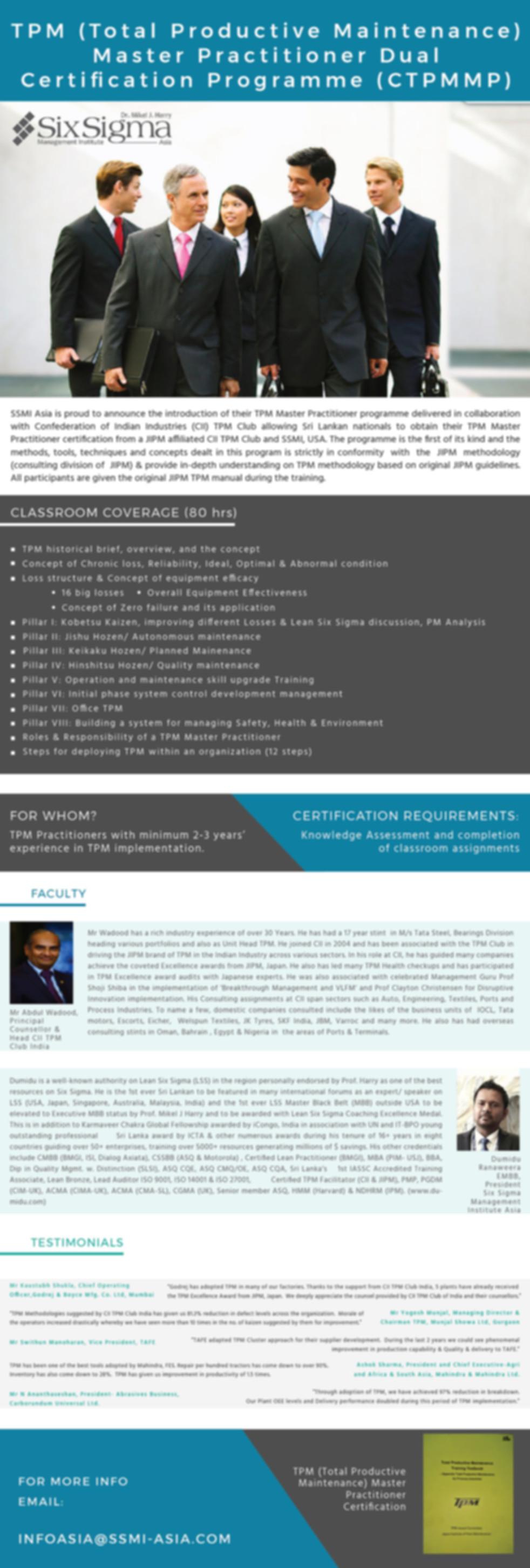 JIPM TPM Master Practitoner Progrmme