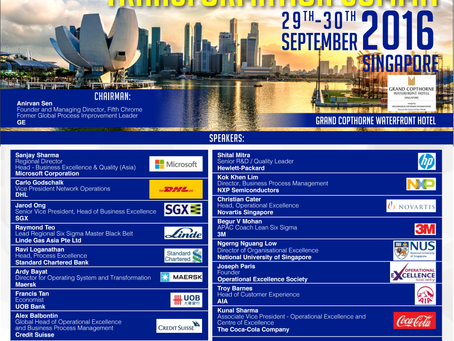 SSMI Asia supports 'Global Operational Excellence & Process Transformation Summit' to be