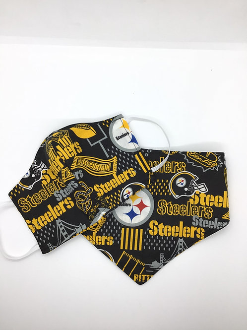 Steelers Matching Mask and Pet Bandanna