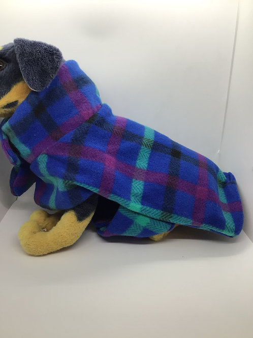 Royal Plaid Fleece Coat