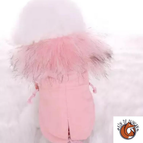 Pink Fur Kid Coat
