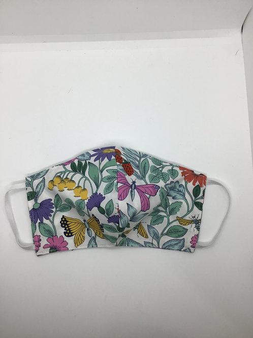 Garden Print Cotton Mask