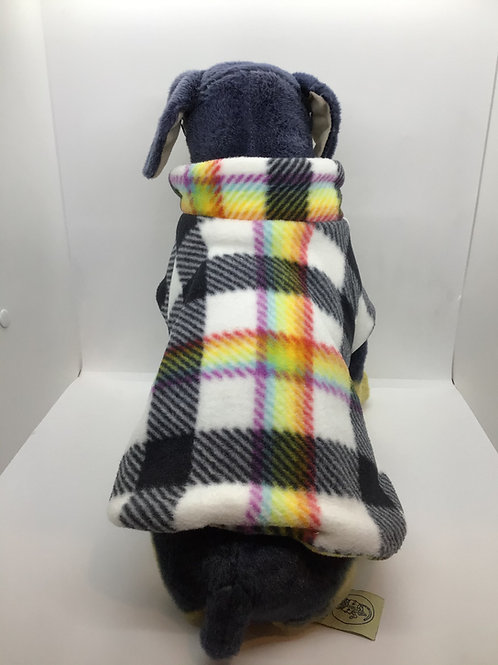 Rainbow Fleece Dog Coat