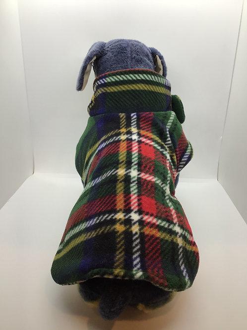 Green Plaid Dog Coat