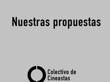 Propuestas del Colectivo de Cineastas