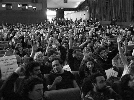 Resoluciones de la asamblea del 28/9 en el Cine Gaumont