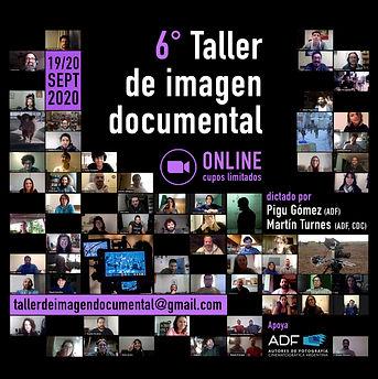 Taller de imagen documental flyer