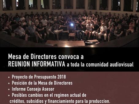 Mesa de Directores invita a Reunión Informativa