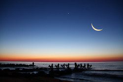 Moon over the Chesapeake