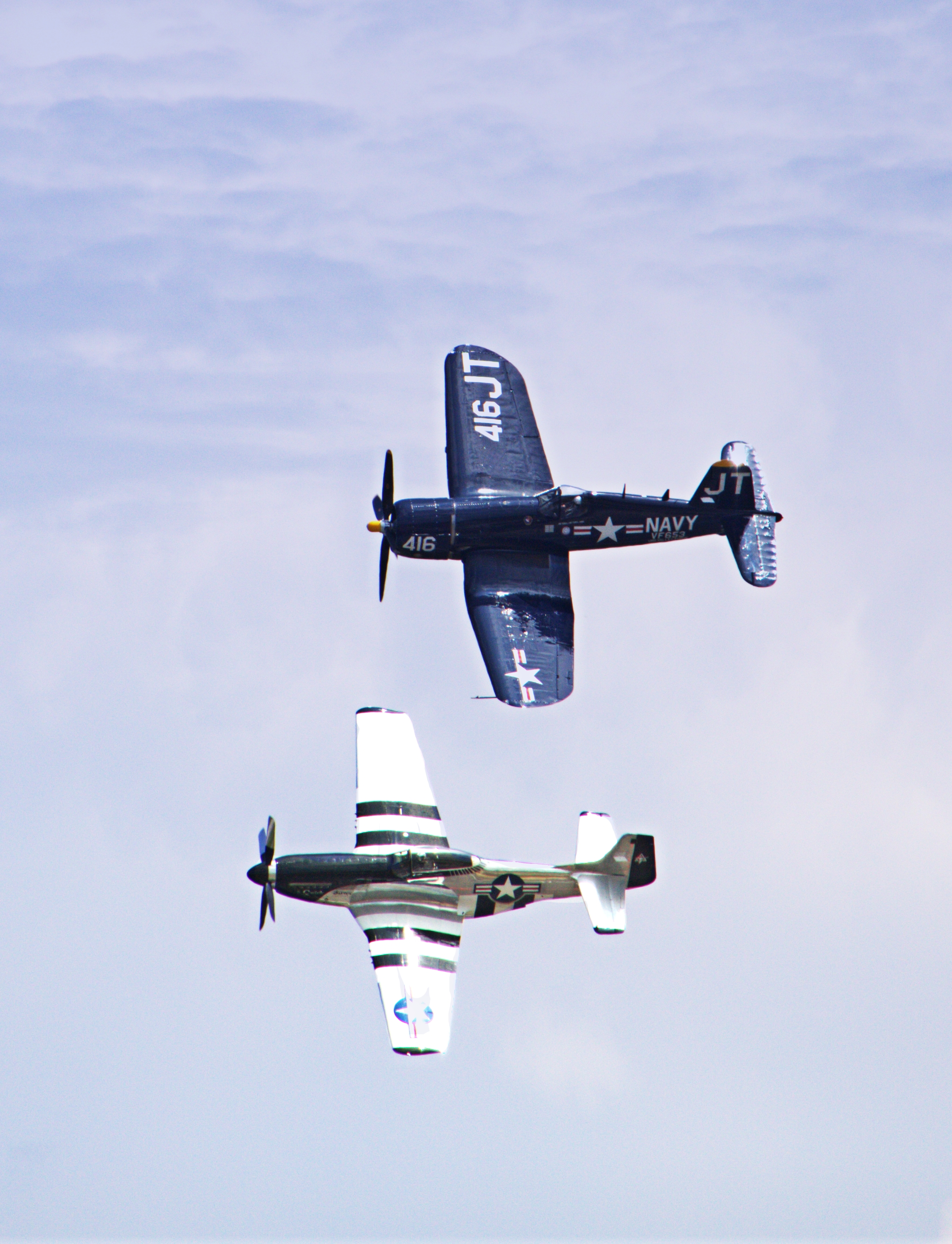 P-51 and F-4U Corsair