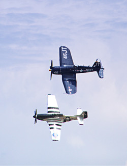 P-51 and F-4U Corsair