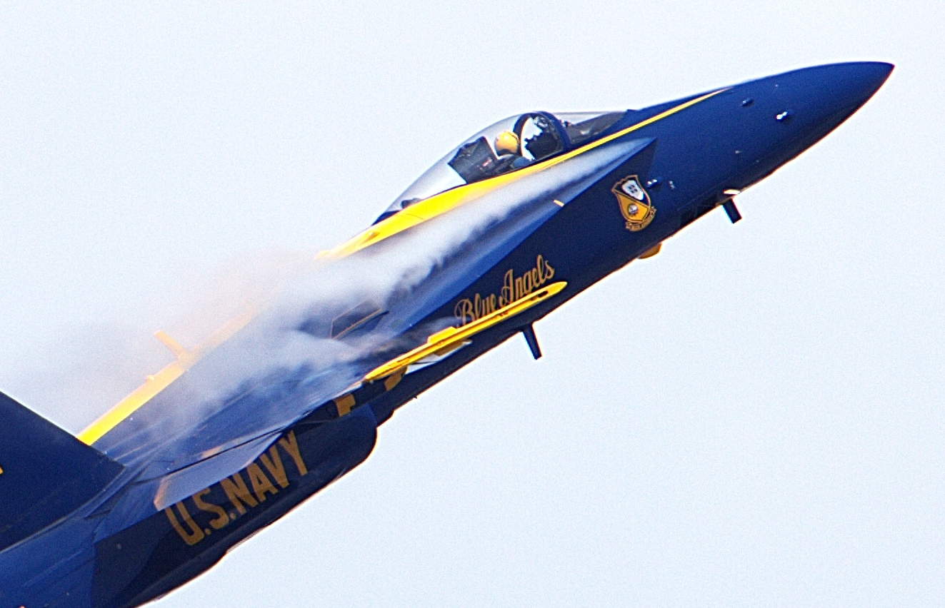 Blue Angel Close Up