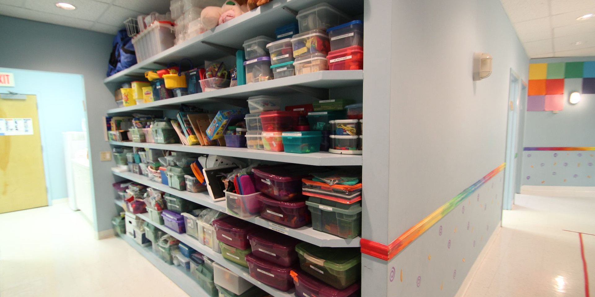 A sneak peek at the toy shelves