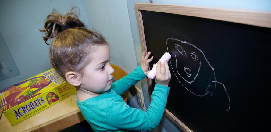 Drawing on the blackboard