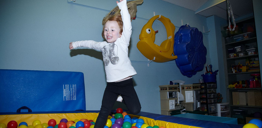 Jumping into the ball pit