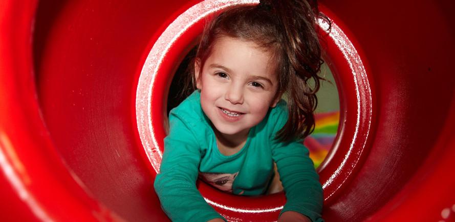 Crawling through a barrel