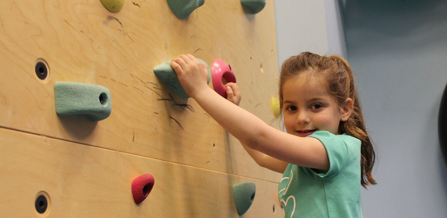 Scaling the rock wall