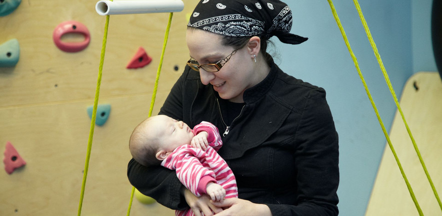 Movement input calms and organizes the baby
