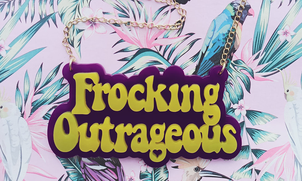 Frocking Outrageous acrylic necklace