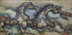 Sunil Madhav Sen Mixed Media on Canvas