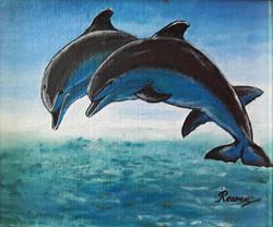 Dolphin | Acrylic on Canvas