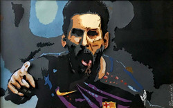 Messi | Paper Cutting on Paper