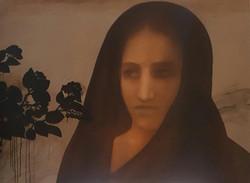 Chandra Bhattacharya Untitled Acrylic on Canvas 36x48inches 2016