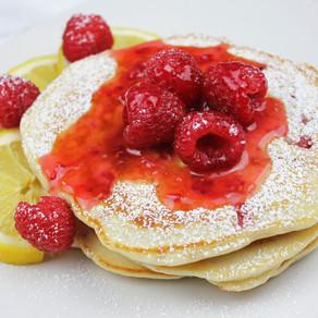 Raspberry Lemon Pancakes with Raspberry Lemon Compote