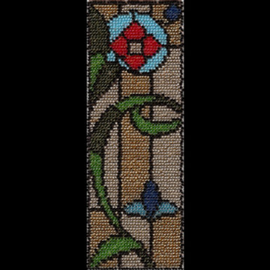 Stained Glass English Rose Bookmark