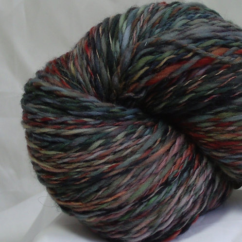 Polwarth sheep wool and silk blend, handspun yarn