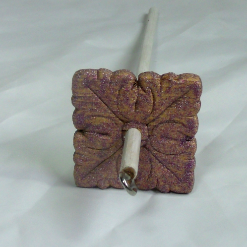 Lavender Glitter Small Drop Spindle
