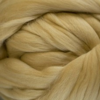 """Merino solid dyed top - """"Parchment"""""""