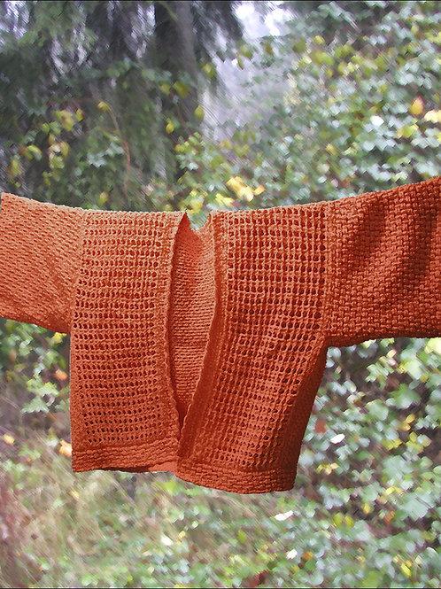 Basketweave Box Cardigan in Tunisian Crochet
