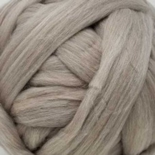 "Merino solid dyed top - ""Taupe"""