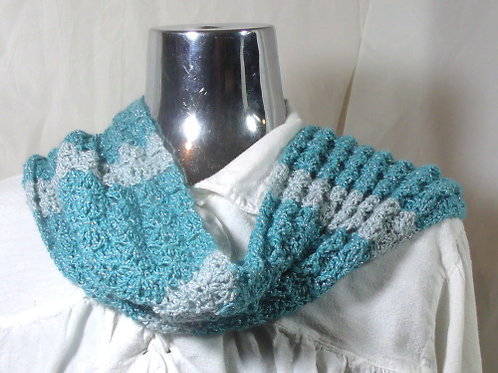 Frost Blossom infinity cowl