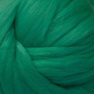 "Merino solid dyed top - ""Jade"""