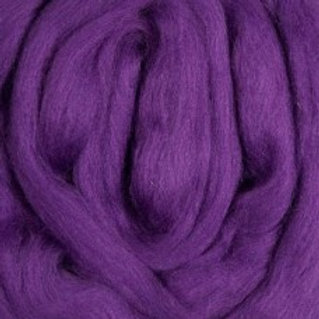 """Merino solid dyed top - """"Purple"""""""
