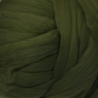 "Merino solid dyed top - ""Bottle Green"""