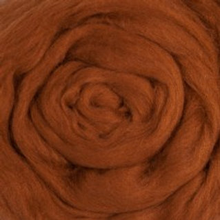 "Merino solid dyed top - ""Nutmeg"""