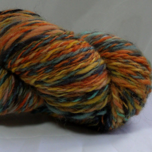 Polwarth sheep wool, handspun yarn