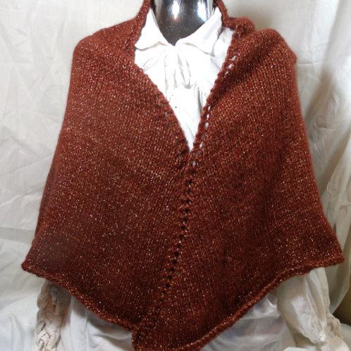 Rounded garnet shawl