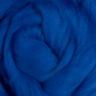 "Merino solid dyed top - ""Blue"""