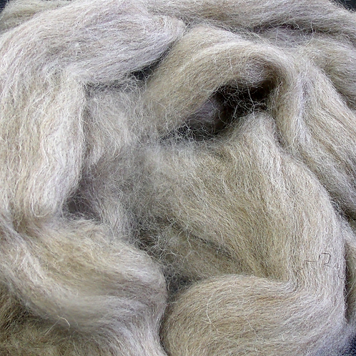 Suffolk wool roving, natural