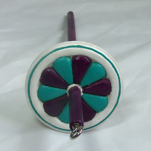 Snow Fairy Pinwheel Medium Drop Spindle