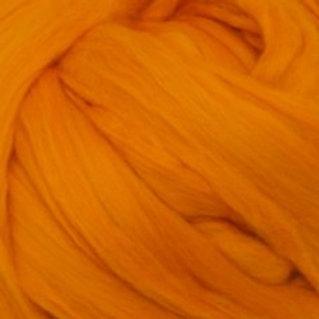 "Merino solid dyed top - ""Tangerine"""