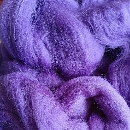 """Merino solid dyed top - """"Violet"""""""